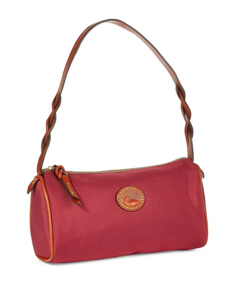Dooney Bourke Ebelle5 Designer Dooney And Bourke Mini Handbag And Organizer Giveaway Ebelle5 Handbags Purses by Dooney Bourke Small Barrel Handbag In Cranberry Lyst