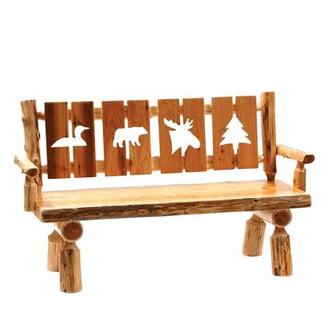 bench cut cut out log bench 60 inch