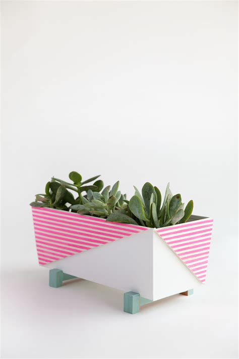 diy modern indoor planter tell and