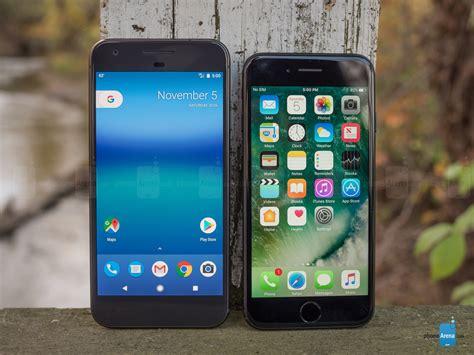 google pixel  apple iphone