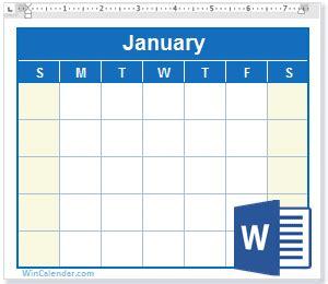 Free 2017 Word Calendar Blank And Printable Calendar Templates Free Church Calendar Templates
