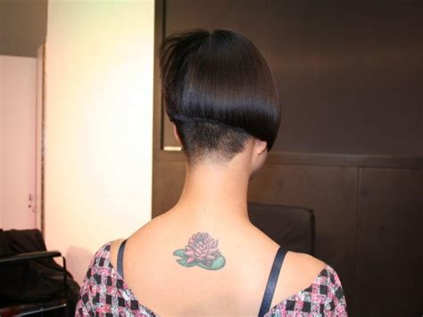 buzzed nape bob makeover girl s hairstyle buzzed napes