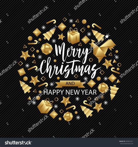 luxury new year merry happy new year luxury stock vector