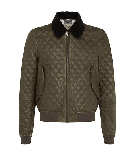 Burberry Leather Quilted Jacket by Burberry Brit Quilted Leather Bomber Jacket In Khaki For