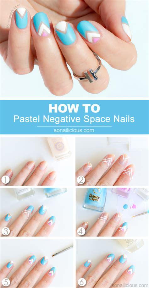 nail art negative space tutorial pastel negative space nail art tutorial