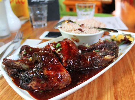 bbq pork ribs with jerk chicken wings sides ma petite jamaica 163 7 50 london cheap eats