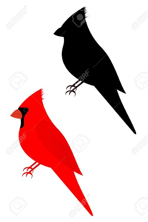 cardinal clip cardinal clipart silhouette pencil and in color cardinal