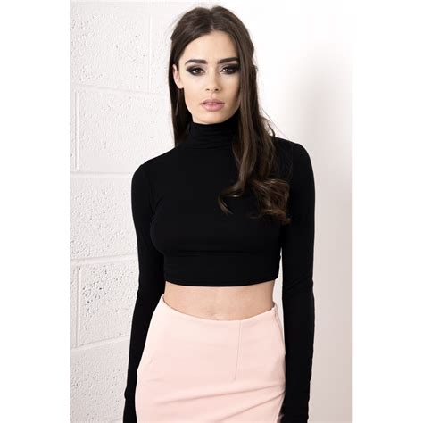 Sleeve Crop Top black sleeve crop top uk