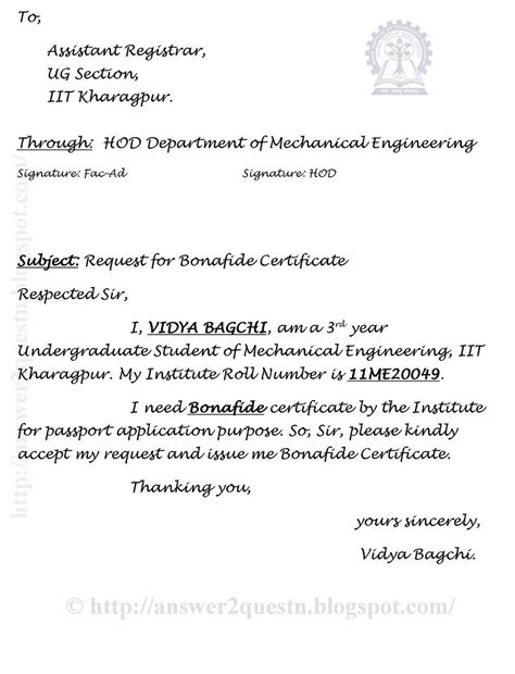 request letter for college certificate letter format for bonafide certificate carisoprodolpharm
