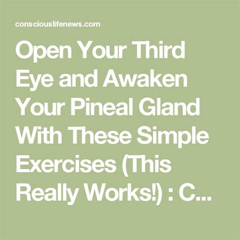 Detox Your Pineal Gland Decalcify by Best 25 Pineal Gland Ideas On Decalcify