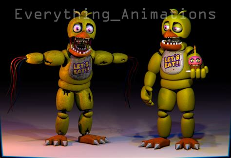edit foto model karakter games warna 3d photoshop youtube fnaf 2 chica by everythinganimations on deviantart