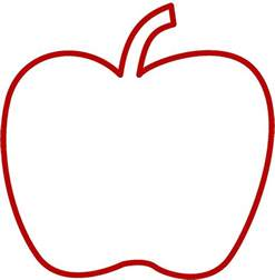 Apple Outline by Apple Outline Apple Activities