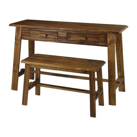 casual home shop casual home rustic brown writing desk at lowes