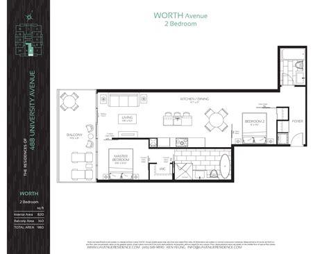820 fifth avenue floor plan the residences of 488 university avenue condos talkcondo