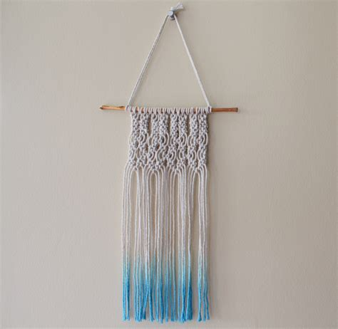 Learning Macrame - mini macrame wall hanging diary