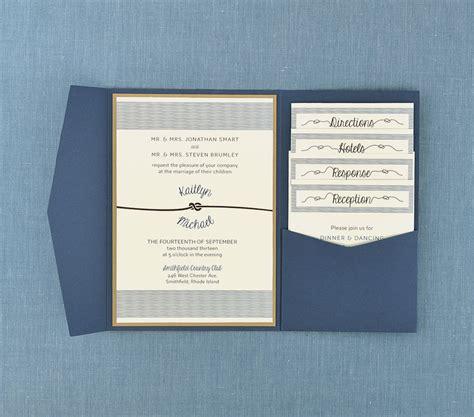 Pocket Invitations by Nautical Tie The Knot Pocket Invitation Cards Pockets