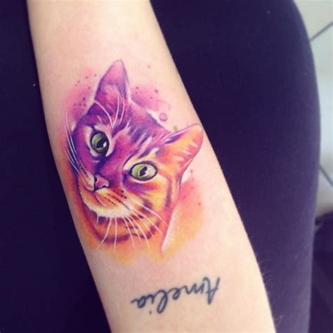 cat watercolor tattoo 30 gorgeous watercolor tattoos by adrian bascur tattoomagz