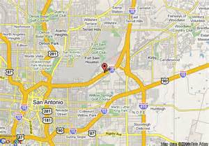 map of americas best value inn san antonio sbc center fort