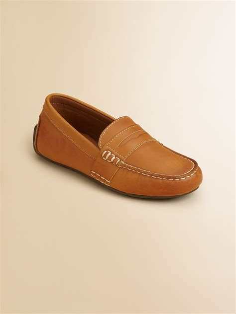 boys loafers ralph boys telly leather loafers in lyst