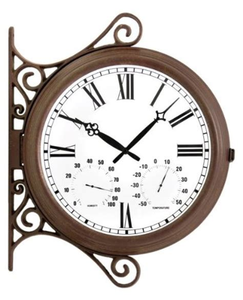 rustic outdoor double sided station clock