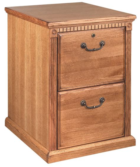 Oak File Cabinets by Golden Oak Two Drawer Wood Office File Cabinet Ebay