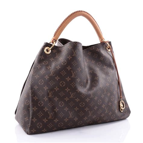 buy louis vuitton artsy handbag monogram canvas gm brown