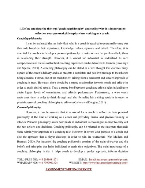 Philosophy Essay by Essay Sle On Coaching Philosophy