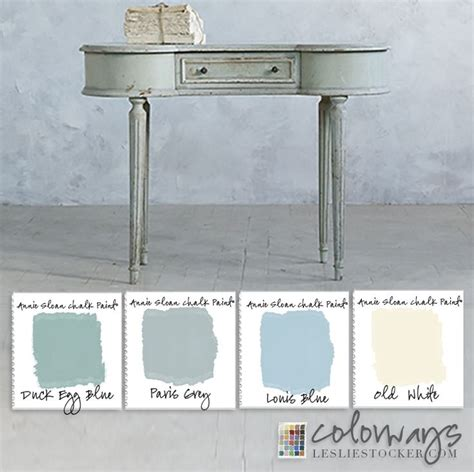 colorways with leslie stocker sloan chalk paint 174 duck egg and louis blue color