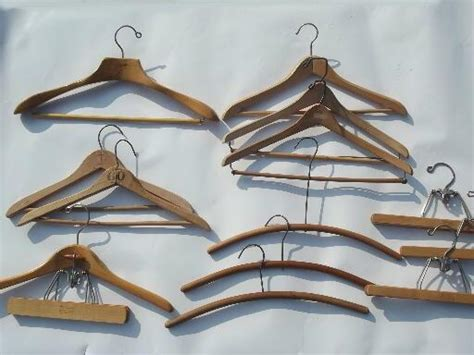Wood Closet Hangers by Wood Coat Closet Hangers Vintage Wooden Clothes Suit