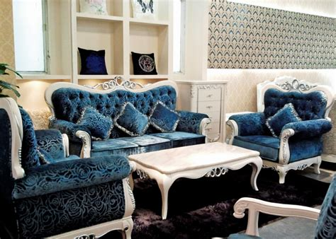 blue living room furniture sets italian blue fabric sofa sets living room furniture antique style wooden sofa baroque furniture