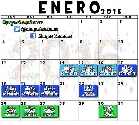 Calendario 2017 Fechas Festivas Calendario De Los Concursos De Murgas En 2016 Murgascanarias