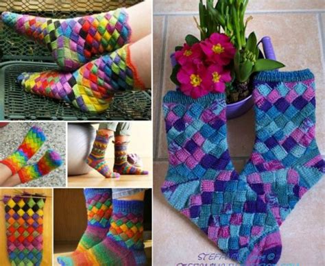 diy rainbow knitted socks tutorial rainbow entrelac socks free pattern easy tutorial