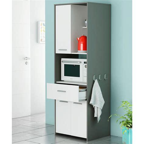 meuble 224 micro onde en panneaux de particules gris et