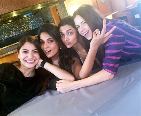 richa chadda and kalki movie deepika anushka kalki richa get together rediff