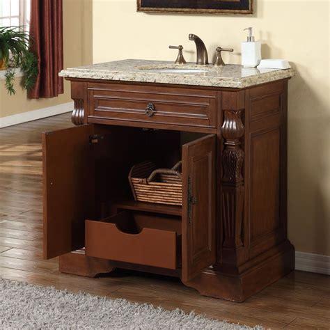 "Silkroad Exclusive 36"" Single Sink Cabinet   Venetian Gold"