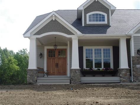home exterior design with pillars best 25 craftsman style porch ideas on pinterest