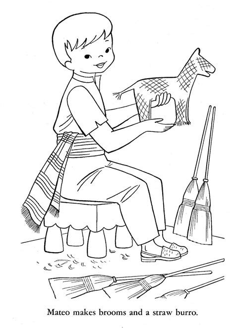 colonial boy coloring page colonial era toys coloring pages colonial boy coloring
