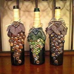 wine bottle decoration with marbles gallery for gt kitchen wall decor wine