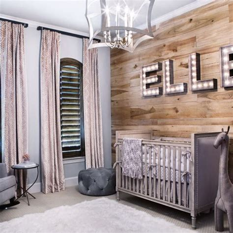Wooden Nursery Decor Baby Will This Charmingly Rustic Nursery For Years To Come Instead Of Wallpaper The Wall