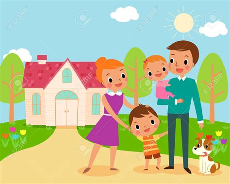 clipart home family in front of house clipart clipartxtras