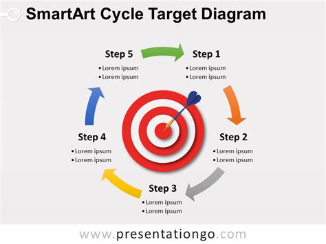 Smartart Cycle Target Powerpoint Diagram Free Smartart For Powerpoint