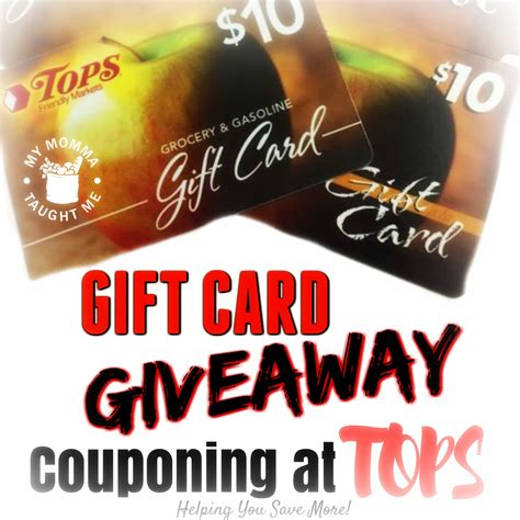 Wegmans Grocery Store Gift Cards - enter to win tops markets gift cards two winners my momma taught me