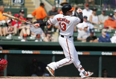 manny machado swing orioles hit 4 homers beat red sox 16 8