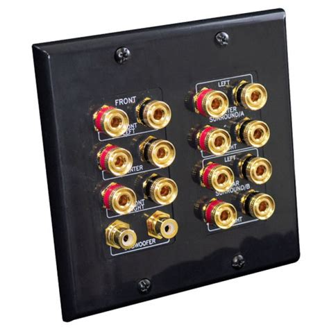 home theater wall plate   speakers dual rca