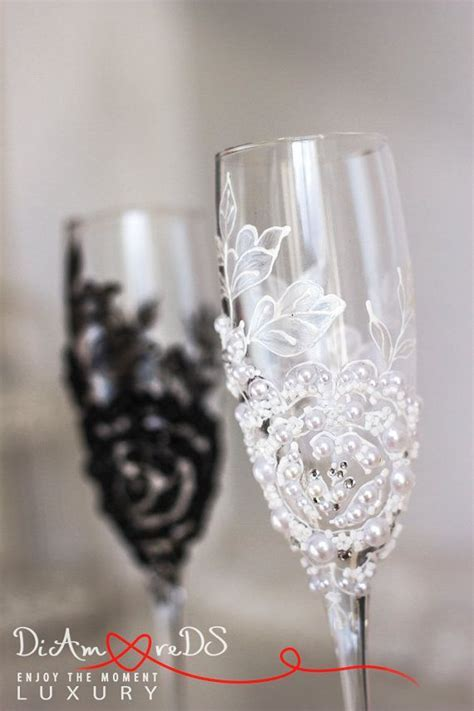 25  best ideas about Wedding toasting glasses on Pinterest