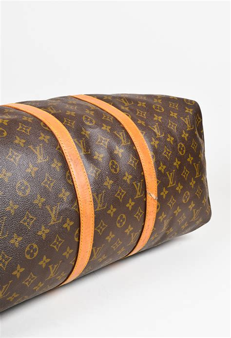 vintage louis vuitton brown monogram canvas leather