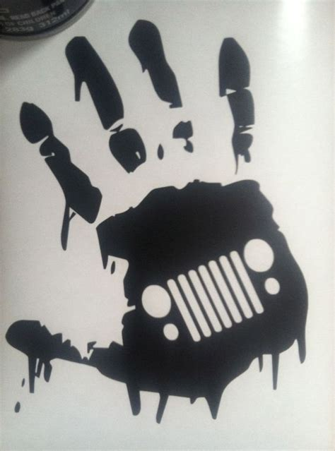 jeep wave sticker mirror zombie jk hand wave jeep quot grill quot wrangler decal for danny
