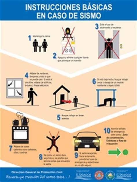 afiches de un sismo afiche instrucciones b 225 sicas en caso de sismos