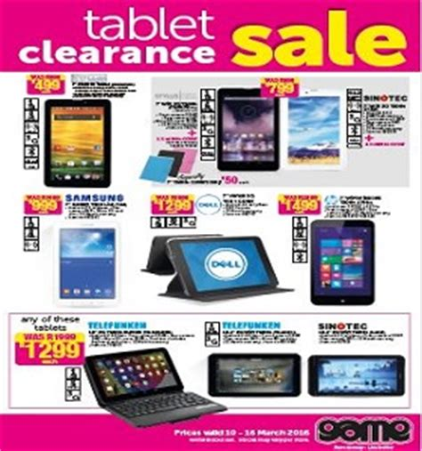 game tablet clearance catalogue 10 march 16 march 2016