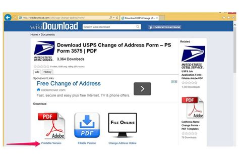 printable version of website how to print a change of address form from the us post